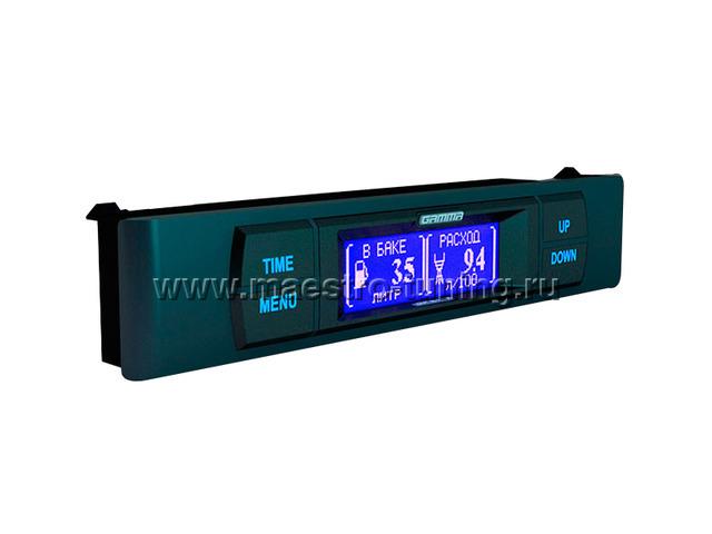 Описание бортового компьютера gf 215T.  Выполняет функции часов с календарем и будильником, термометра...